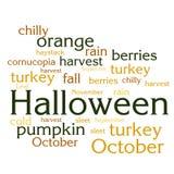 Nuage de liste de mots au sujet de saison d'automne Image stock