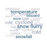 Nuage de liste de mots au sujet de saison d'hiver Photographie stock