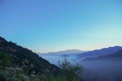 Nuage de mer et de lever de soleil dans Alishan Photographie stock libre de droits