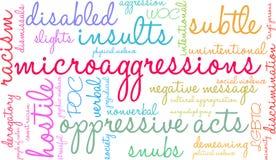 Nuage de Microaggressions Word illustration de vecteur