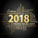nuage de mot avec des salutations de la nouvelle année 2018 Photos libres de droits