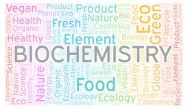 Nuage de mot de biochimie illustration stock