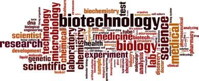 Nuage de mot de biotechnologie illustration libre de droits