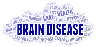 Nuage de mot de Brain Disease illustration libre de droits