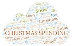Nuage de mot de dépense de Noël illustration de vecteur