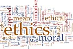 Nuage de mot d'éthique Image libre de droits