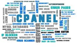 Nuage de mot d'administration de web server de Cpanel illustration de vecteur