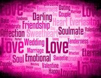 Nuage de mot d'amour Images libres de droits