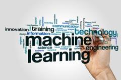 Nuage de mot d'apprentissage automatique image stock