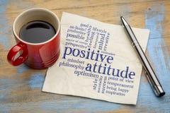 Nuage de mot d'attitude positive sur la serviette image libre de droits