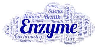 Nuage de mot d'enzymes illustration libre de droits