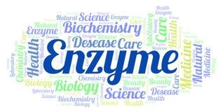 Nuage de mot d'enzymes illustration de vecteur