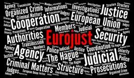 Nuage de mot d'Eurojust Photo libre de droits