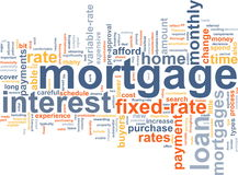 Nuage de mot d'hypothèque Photos libres de droits