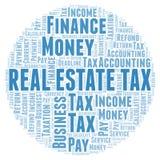 Nuage de mot d'impôts de Real Estate illustration de vecteur
