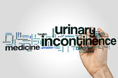 Nuage de mot d'incontinence urinaire photos libres de droits