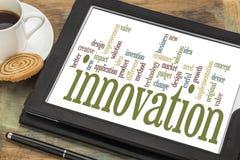 Nuage de mot d'innovation Photos stock