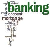Nuage de mot d'opérations bancaires Image libre de droits