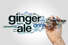 Nuage de mot de bière anglaise de gingembre photos libres de droits