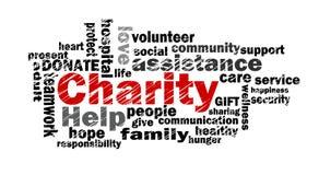 Nuage de mot de charité illustration stock