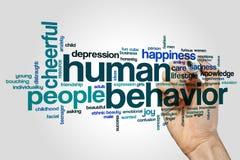 Nuage de mot de comportement humain photo libre de droits