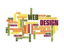 Nuage de mot de conception de Web Photos libres de droits