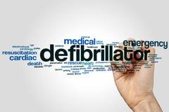 Nuage de mot de défibrillateur Photos stock