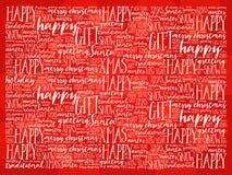 Nuage de mot de fond bonnes fêtes et de Noël Photo libre de droits