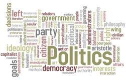 Nuage de mot de la politique Photographie stock libre de droits