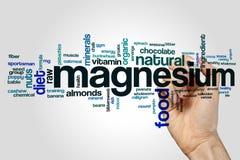 Nuage de mot de magnésium photos stock