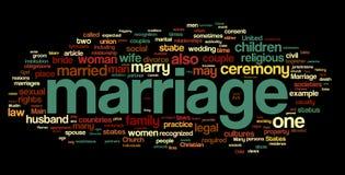 Nuage de mot de mariage Image libre de droits