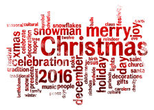 Nuage de mot de Noël Photos stock