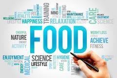 Nuage de mot de nourriture Photos libres de droits
