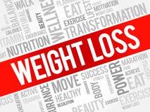 Nuage de mot de perte de poids illustration stock