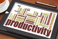 Nuage de mot de productivité images libres de droits