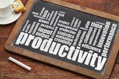 Nuage de mot de productivité photo stock