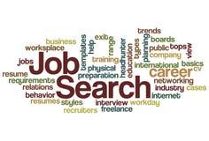 Nuage de mot de recherche d'un emploi Photos stock