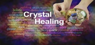 Nuage de mot de thérapie par les cristaux Photos libres de droits