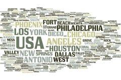 Nuage de mot des Etats-Unis illustration de vecteur