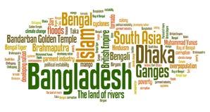 Nuage de mot du Bangladesh Image libre de droits