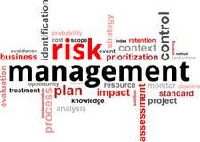 Nuage de mot - gestion des risques Photo stock
