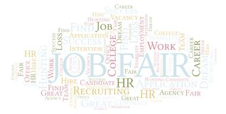 Nuage de mot de Job Fair illustration stock