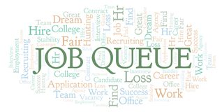 Nuage de mot de Job Queue illustration libre de droits