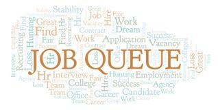 Nuage de mot de Job Queue illustration de vecteur
