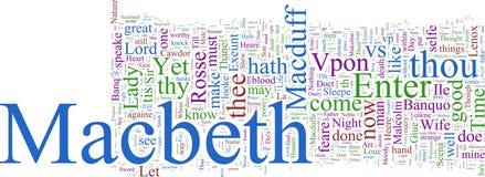 Nuage de mot - Macbeth Image libre de droits