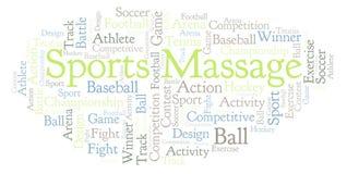 Nuage de mot de massage de sports illustration libre de droits