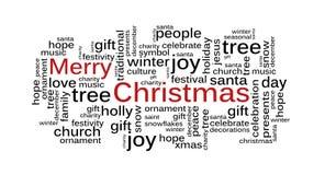 Nuage de mot de Noël illustration de vecteur