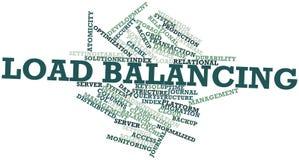 Nuage de mot pour l'équilibrage de la charge Image libre de droits