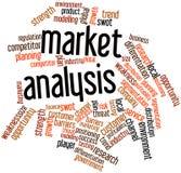 Nuage de mot pour l'analyse des marchés Image libre de droits