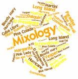 Nuage de mot pour Mixology Images stock